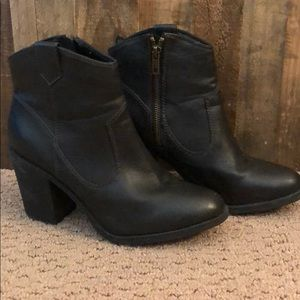 H&M Chunky Leather Boot